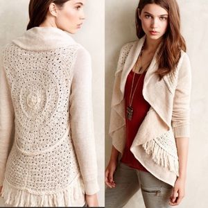 Anthro Knitted & Knotted Open Knit Sweater